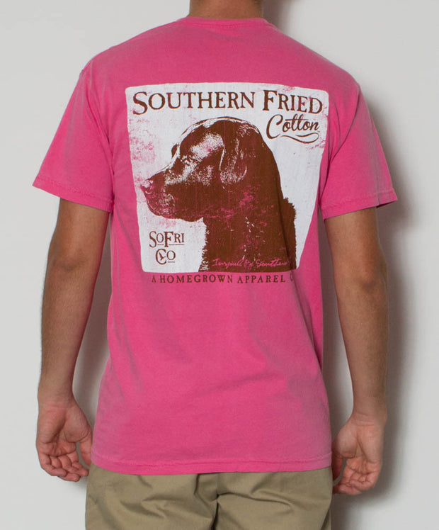 Southern Fried Cotton - Dog S/S Pocket Tee - Crunchberry Back