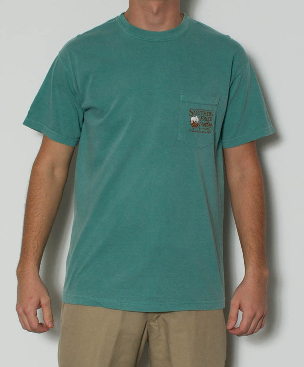 Southern Fried Cotton - Dog S/S Pocket Tee - Light Green Front