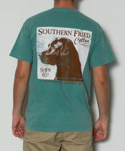 Southern Fried Cotton - Dog S/S Pocket Tee - Light Green Back