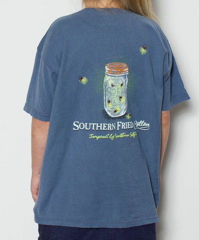 Southern Fried Cotton - Youth Lightning Bug T-Shirt - Back