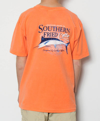 Southern Fried Cotton - Youth Deep Sea Marlin T-Shirt - Back