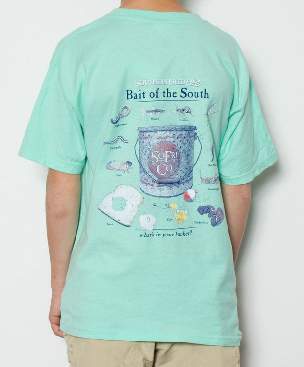 Southern Fried Cotton - Youth Fish Bait T-Shirt - Back