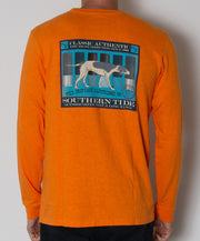 Southern Tide - Skipjack Cartirdge Co. Long Sleeve Slub T-Shirt Hunter's Orange Back