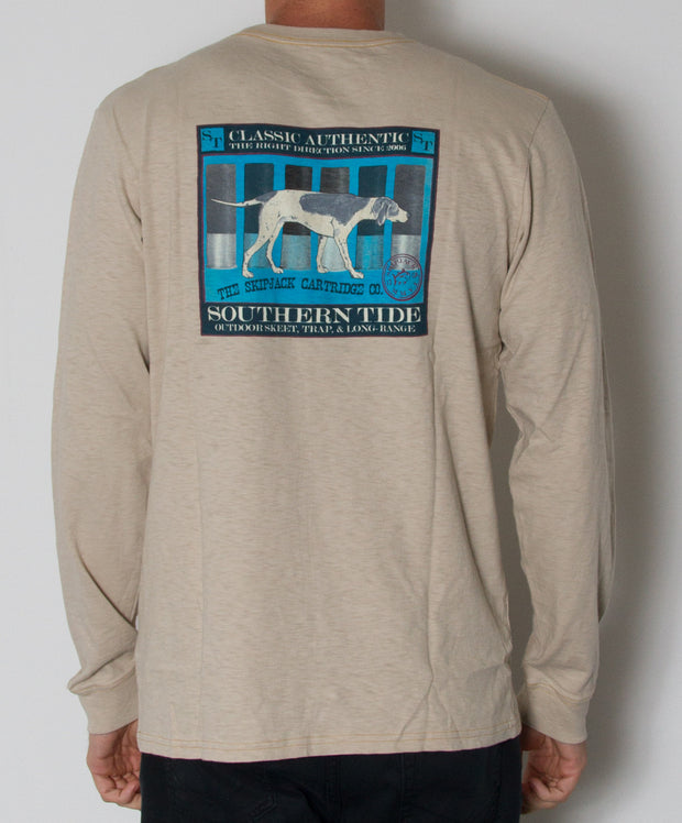 Southern Tide - Skipjack Cartirdge Co. Long Sleeve Slub T-Shirt Cottonwood Back
