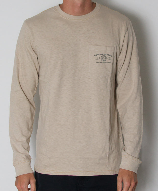 Southern Tide - Skipjack Cartirdge Co. Long Sleeve Slub T-Shirt Cottonwood Front
