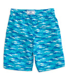 Southern Tide - Boys Shark Frenzy Swim Trunk