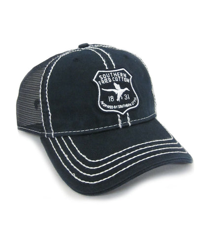 Southern Fried Cotton - Shield Trucker Hat - Navy