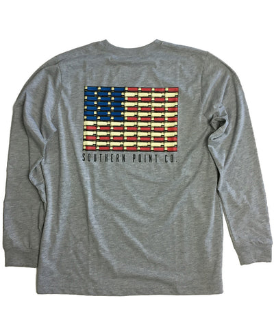 Southern Point - Signature L/S Tee Shotgun Shell American Flag