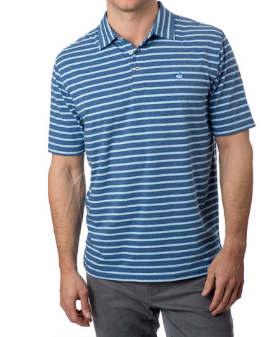 Southern Tide - Heathered Channel Marker Stripe Polo