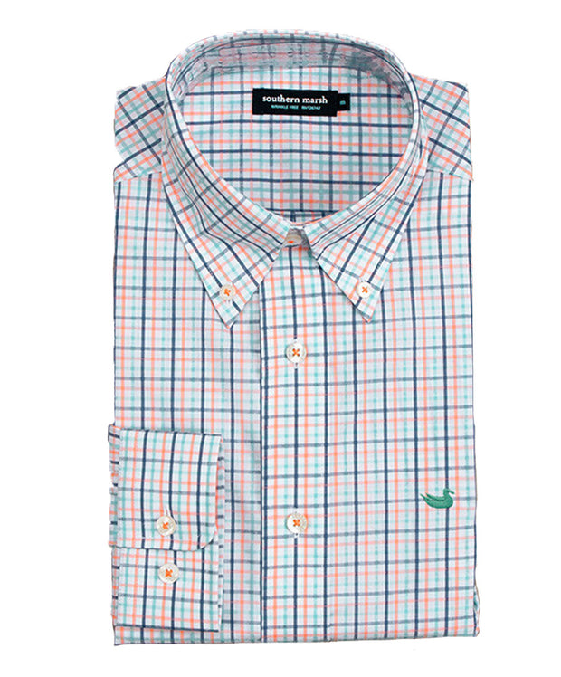 Southern Marsh - The Nottoway Check - Orange/Mint