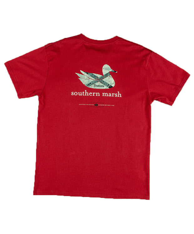 Southern Marsh - Authentic Heritage: Alabama Short Sleeve Tee - Crimson