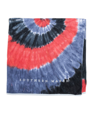 Southern Marsh - Tie-Dye Beach Towel
