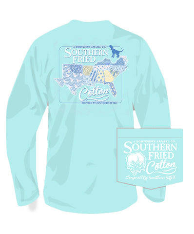 Southern Fried Cotton - Sucker for the South Long Sleeve Tee