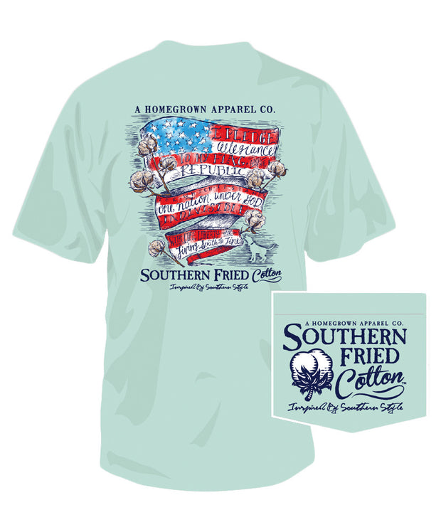 Southern Fried Cotton - Southern Belle Pledge Pocket Tee