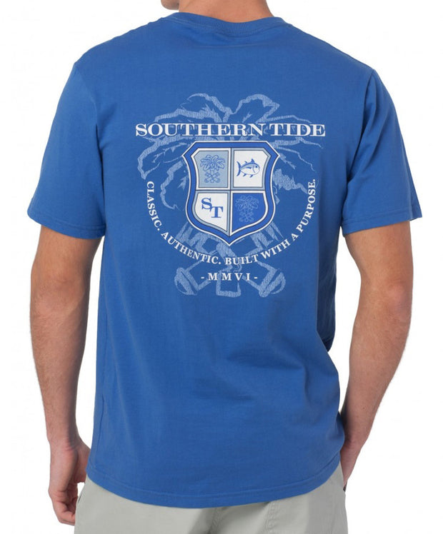 Southern Tide - Heritage Crest T-Shirt - Over Sea Blue