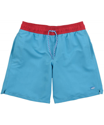 Southern Tide - Boys Contrast Pocket Water Short - Waterfall