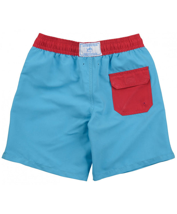 Southern Tide - Boys Contrast Pocket Water Short - Waterfall Back