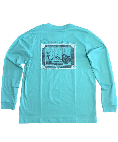 Southern Point - Signature L/S SPC Stamp - Sea Green