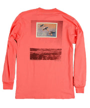 Southern Marsh - Duck Stamp Long Sleeve - Coral