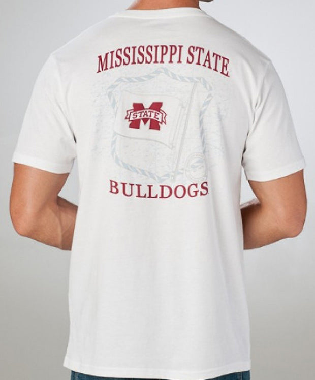 Southern Tide - Collegiate Flag T-Shirt MS State