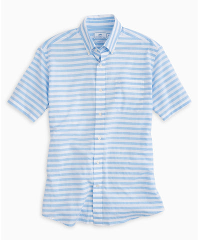 Southern Tide - Toe Side Stripe Short Sleeve Sport Shirt