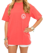 Southern Shirt Co. - Seaside Logo Tee - Sugar Coral Front