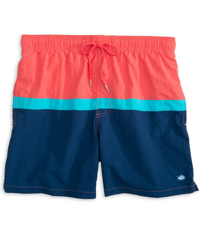 Southern Tide - Color Block Swim Trunk