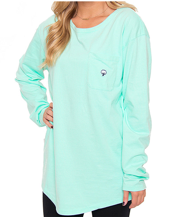 Southern Shirt Co. - Kimmy Boatneck Long Sleeve - Tidal Green