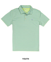 Southern Shirt Co - Boys Perdido Stripe Perf Polo