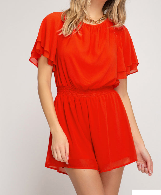 Cut To The Chase Romper