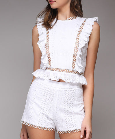 Do + Be - Y15157 - Lace Sleeveless Top