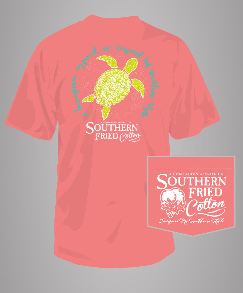 Southern Fried Cotton - Henna Turtle Pocket Tee
