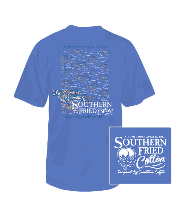 Southern Fried Cotton - Youth Turtle Current Tee