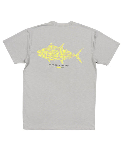 Southern Marsh - FIELDTEC Heathered Performance - Tuna Short Sleeve Tee