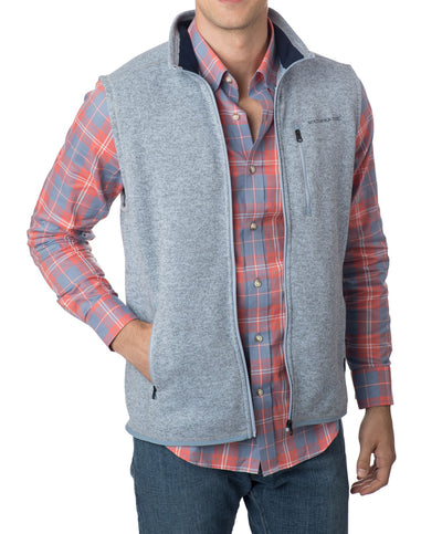 Southern Tide - Mens Samson Peak Sweater Fleece Vest