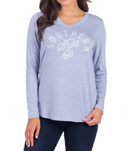 Southern Shirt Co - Velveteen V Neck Long Sleeve