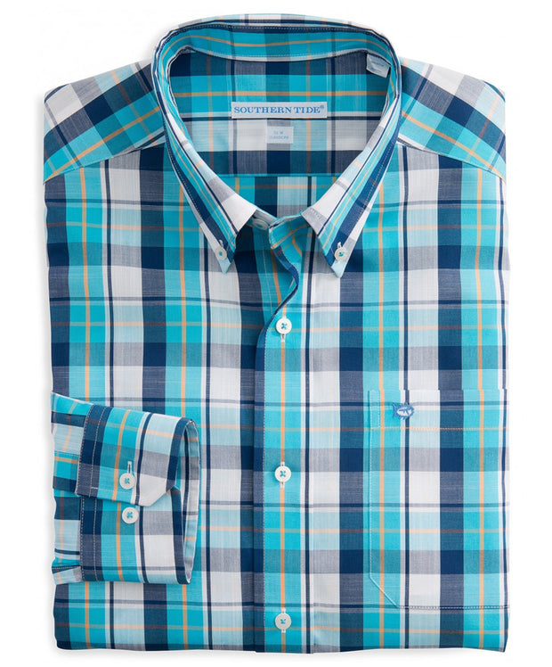 Southern Tide - Auto Pilot Plaid Sport Shirt - Waterfall