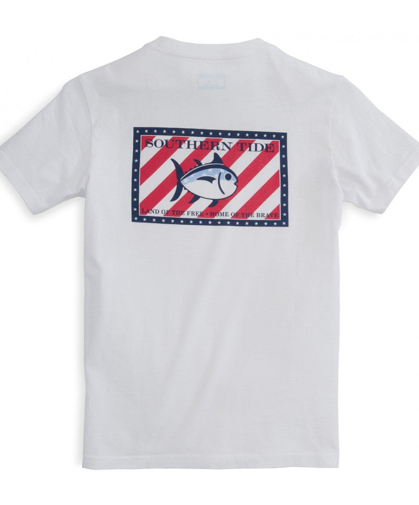 Southern Tide - Youth Independence Tee - White Back