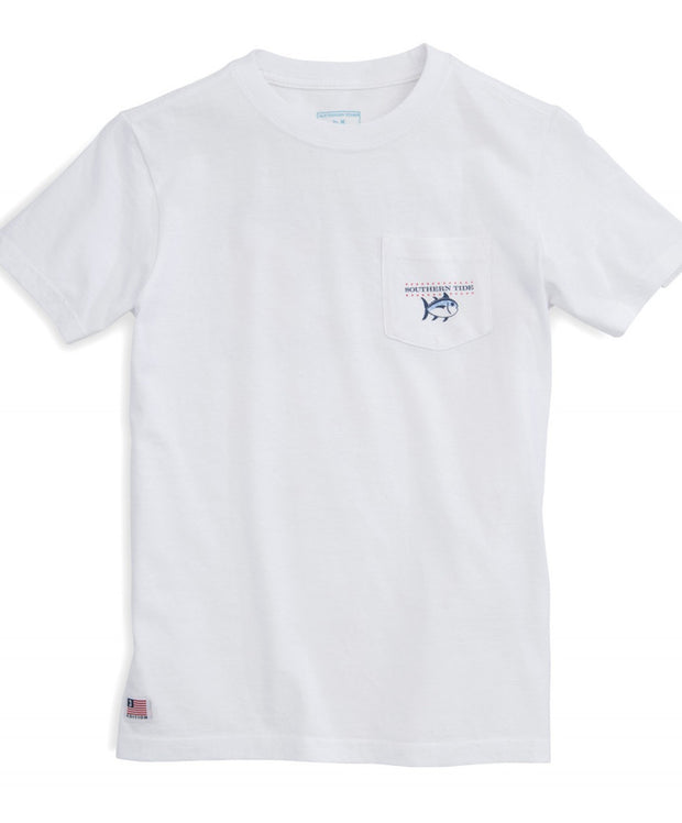 Southern Tide - Youth Independence Tee - White Front