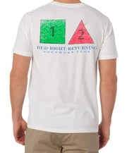 Southern Tide - Red Right Returning Tee - White Back