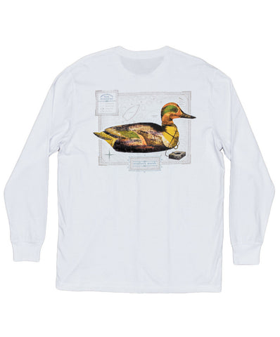 Southern Marsh - Vintage Decoy - Green Winged Teal Long Sleeve Tee