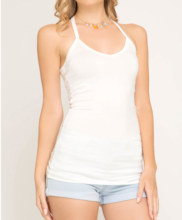 Racer Back Knit Cami Top