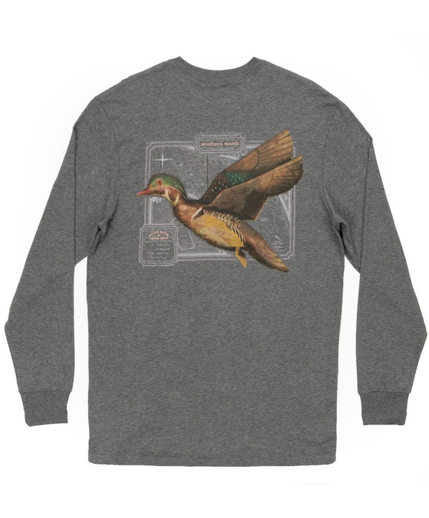 Southern Marsh - Vintage Decoy-Wood Duck Long Sleeve Tee