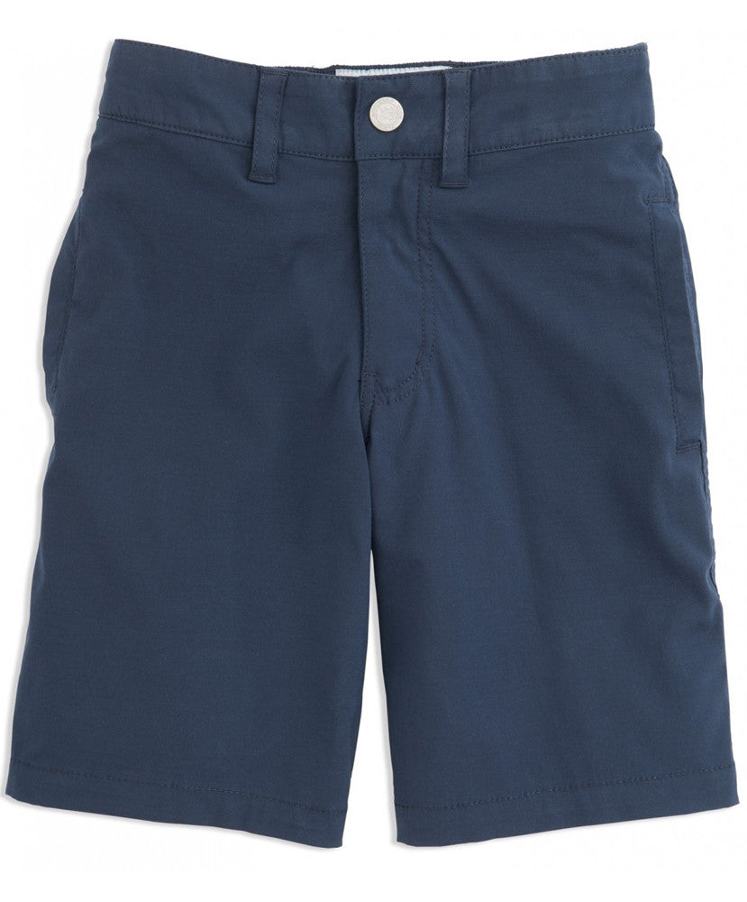 Southern Tide - Youth Swim Tide to Trail Watershorts - True Navy Front
