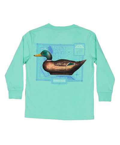 Southern Marsh - Youth Vintage Decoy - Mallard Long Sleeve Tee