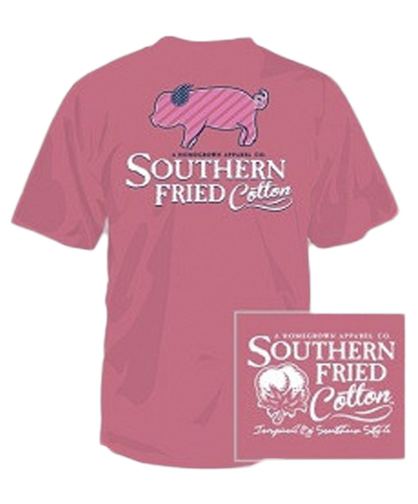 Southern Fried Cotton - Youth Lil' Striped Pig Tee