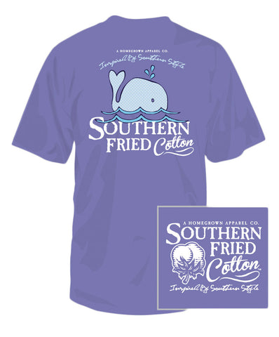 Southern Fried Cotton - Youth Baby Whale Tee