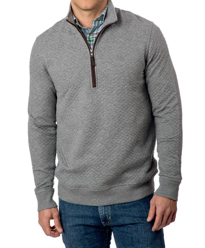 Southern Tide - Sundown Quilted Quarter Zip