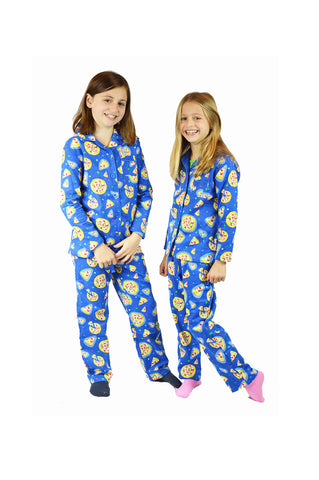 Pizza Party Flannel Pajama Set - Kids