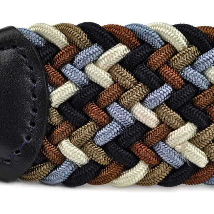 Andersons B0667 Woven Textile Belt Brown Navy and White